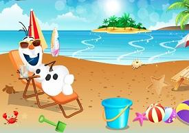 Frozen Olaf Plajda oyunu