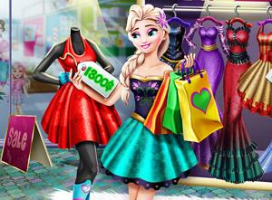 Elsa ile Alışveriş oyunu