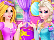 Elsa ile Rapunzel oyunu
