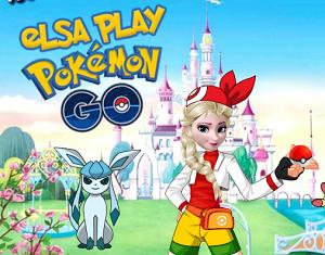 Elsa Pokemon Go Oynuyor oyunu