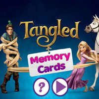 Rapunzel Hafıza Kartları oyunu