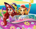 Disney Prensesleri Sahilde