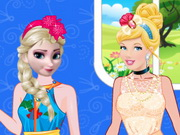 Elsa ve Sinderella Güzellik Yarışması oyunu