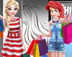 Prensesler Alışverişte oyunu