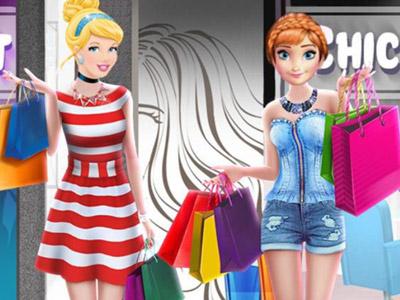 Prensesler Alışverişde