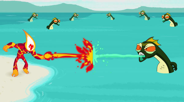 Ben 10 Ateş Topu Dövüş oyunu