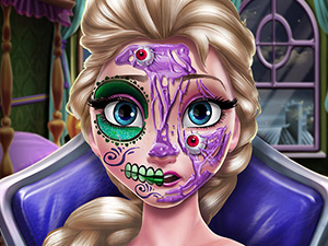 Elsa Cadılar Bayramı Makyajı oyunu
