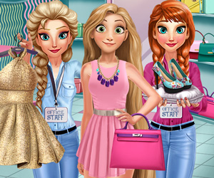 Elsa ile Rapunzel Alışveriş