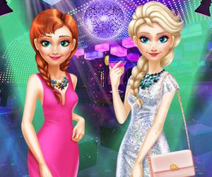 Elsa ile Anna Gece Kıyafetleri