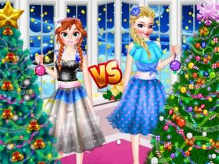 Elsa ve Anna Yılbaşı Ağacı oyunu