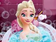 Elsa Güzellik Banyosu oyunu