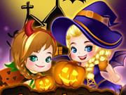 Elsa ve Anna Cadılar Bayramı oyunu