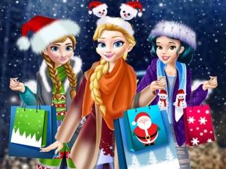 Prensesler Yılbaşı Alışverişi oyunu