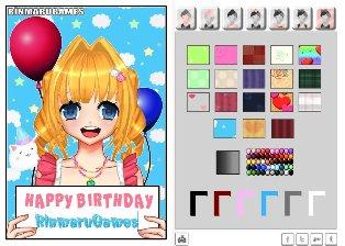 Anime Doğum Günü Kartı