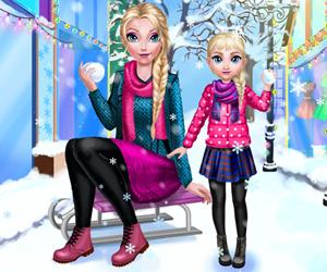 Anne Elsa Kış Modası oyunu