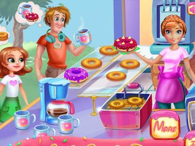 Anna Donut Pişirme oyunu