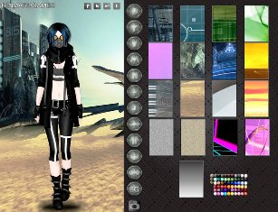 Cyberpunk Moda Elbise