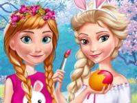 Anna ile Elsa Bahar Eğlencesi oyunu