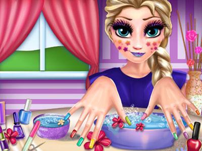 Elsa Makyaj oyunu
