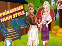 Prensesler Çiftlik Kıyafetleri oyunu