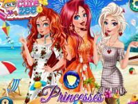 Prensesler Tatil Kıyafetleri oyunu