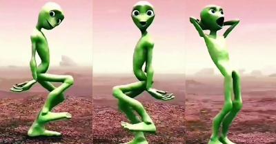Dame Tu Cosita Yeşil Uzaylı Dansı oyunu