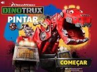 Dinozor Makineler Boyama Oyunu