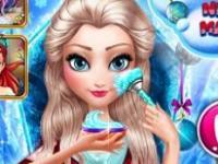 Elsa Yeni Yıl Makyajı oyunu