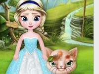 Küçük Elsa ve Kedisi oyunu