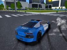 Polis Arabası Offroad oyunu