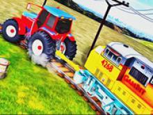 Traktör ile Tren Çekme