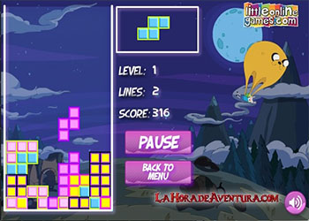 Adventure Time Tetris oyunu