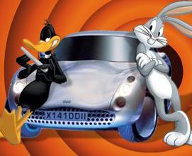 Bugs Bunny Daffy Duck Araba