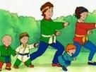 Caillou Karate Yapmayı Deniyor