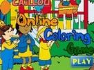 Caillou Kayu Boyama 2 oyunu