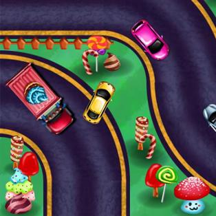 Harika Arabalar Candyland Park oyunu