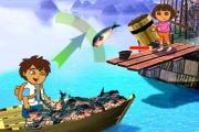 Dora ve Diego Balık Yakala oyunu