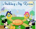 Mickey İle Oda Düzenleme oyunu