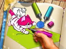 Evcil Hayvan Boyama Kitabı Oyunu