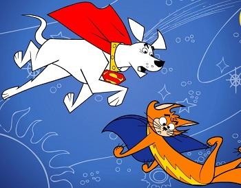 Süper Köpek Krypto ve Streaky oyunu