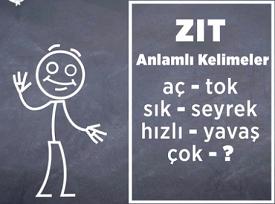 Tel Ali Zıt Anlamlı Kelimeler oyunu