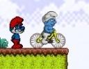 Şirinler Bisiklet Oyunu