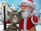 Talking Tom ve Noel Baba oyunu
